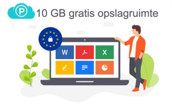 10 GB gratis online opslagruimte bij pCloud