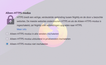 Aleen-HTTPS-modus inschakelen in Firefox