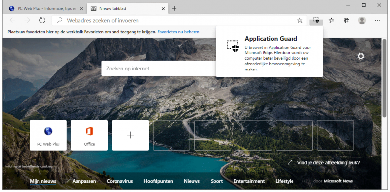 Application Guard in Microsoft Edge Chromium gebruiken