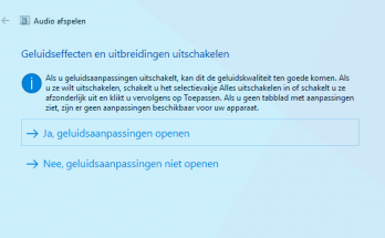 Audioproblemen in Windows 10 oplossen