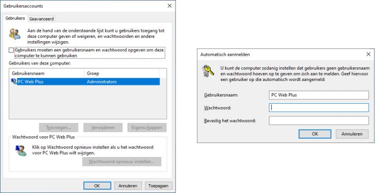 Automatisch inloggen in Windows 10