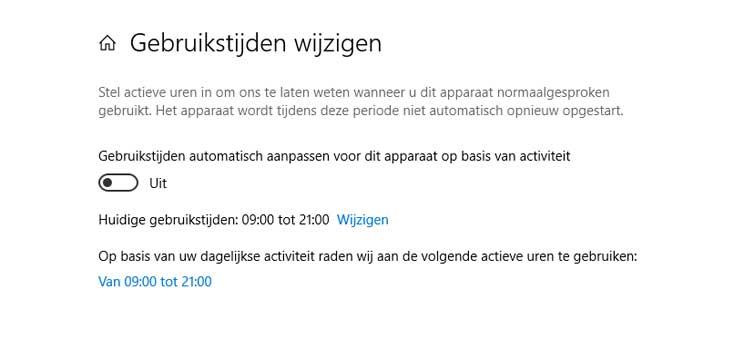 Automatisch opnieuw opstarten uitschakelen windows 10