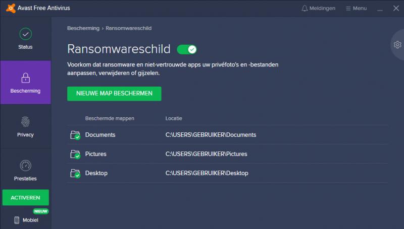Avast Free Antivirus Ransomwareschild