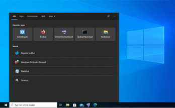 Bing uitschakelen in Windows 10