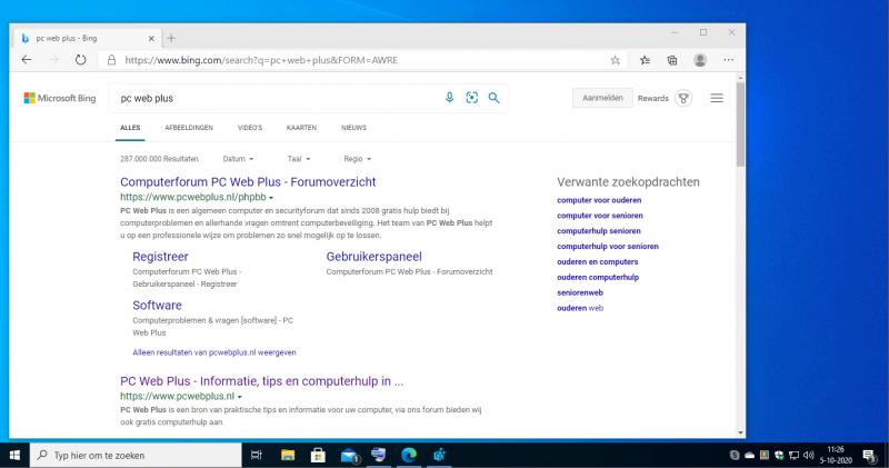 Bing verwijderen in het Startmenu en Windows Search