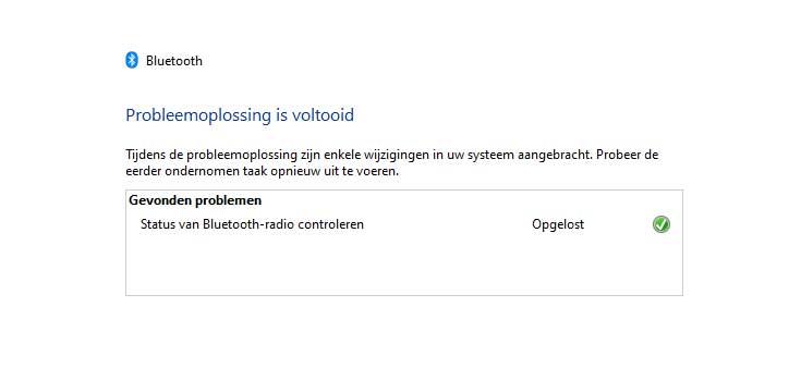 Bluetooth werkt niet meer