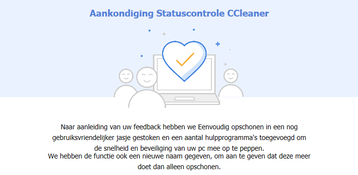 CCleaner Statuscontrole