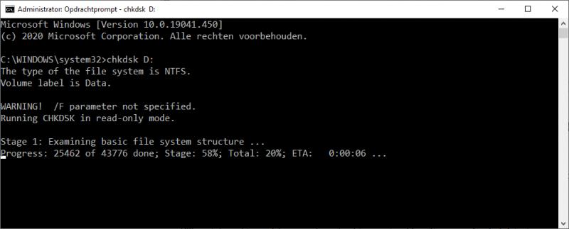 Check Disk utility (chkdsk)
