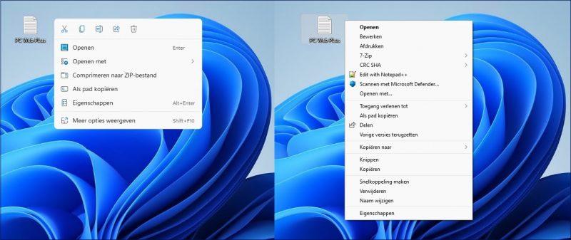 Contextmenu in Windows 11 weergeven zoals in Windows 10