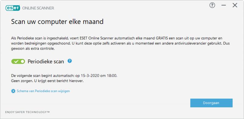 ESET Online Scanner periodieke scan
