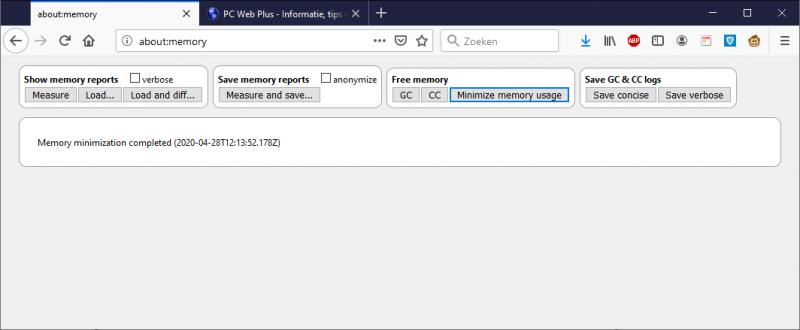 Geheugengebruik in Firefox minimaliseren