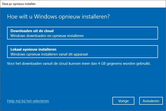 Hoe wilt u Windows opnieuw installeren