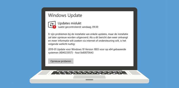 KB4023057 update met serviceonderdelen voor Windows 10