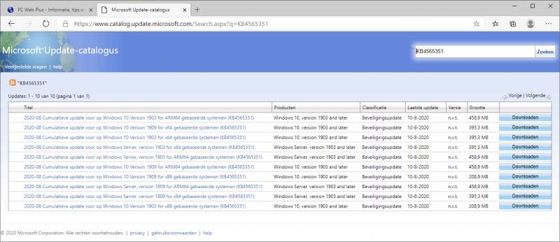 KB4565351 Windows Update Catalog