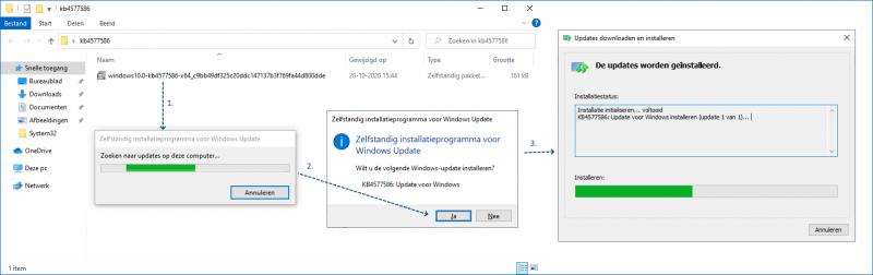 KB4577586 voor het verwijderen van Adobe Flash Player installeren