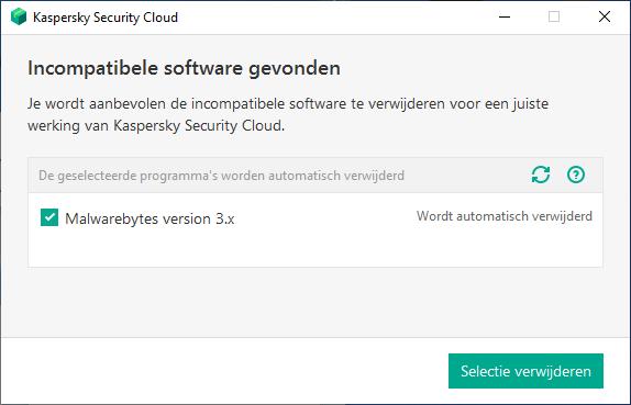 Incompatibele software gevonden