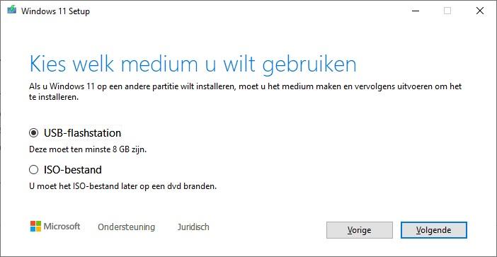 Media Creation Tool voor Windows 11