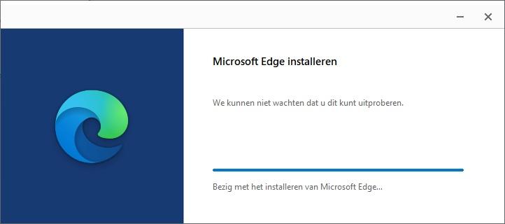 Microsoft Edge Chromium herstellen of opnieuw installeren