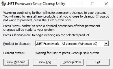Microsoft .NET Framework Setup Cleanup Tool