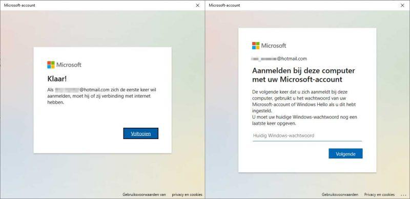 Micrcosoft-account instellen in Windows 10