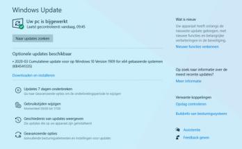 MIcrosoft stopt tijdelijk met optionele updates