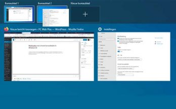 Multitasken met virtuele bureaubladen in Windows 10