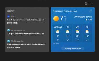 Nieuws en interesses uitschakelen in Windows 10