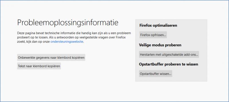 Opstartbuffer (startupCache) wissen in Firefox