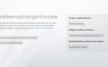 Opstartbuffer wissen in Firefox