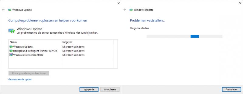 Probleemoplosser Windows Update (WUdiag) uitvoeren