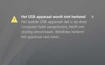Problemen met USB poorten en apparaten verhelpen