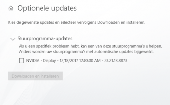 Stuurprogramma-updates in Windows 10