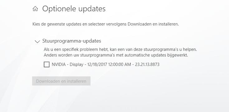 Stuurprogramma-updates in Windows 10