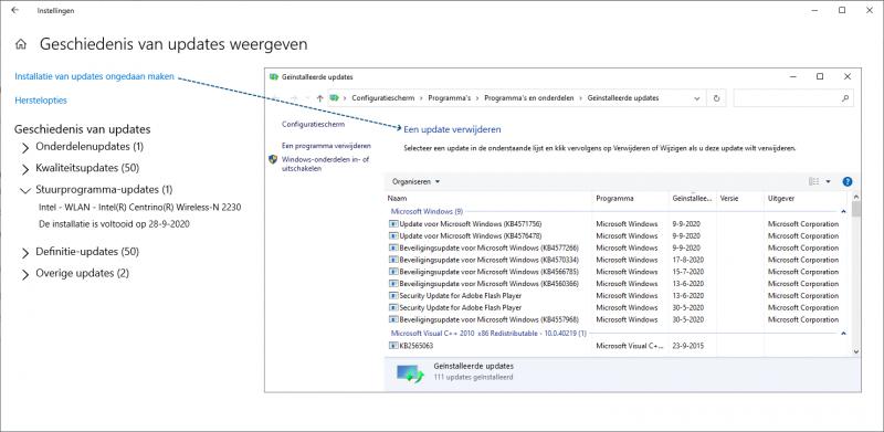 Stuurprogramma-update verwijderen