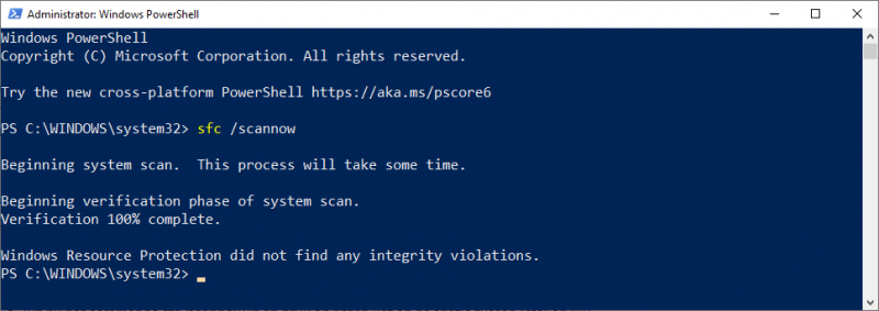 System File Checker PowerShell