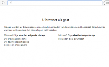 InPravate of als Gast browsen in Microsoft Edge Chromium