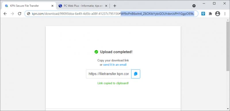 Downloadlink met end-to-end encryptie