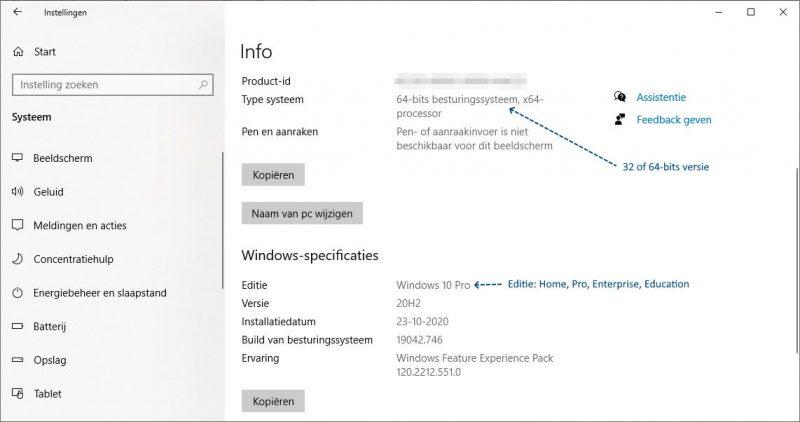 Welke Windows heb ik in gebruik? De 32 of 64-bits versie