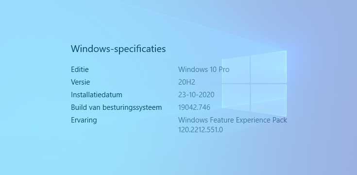 Welke Windows versie heb ik?