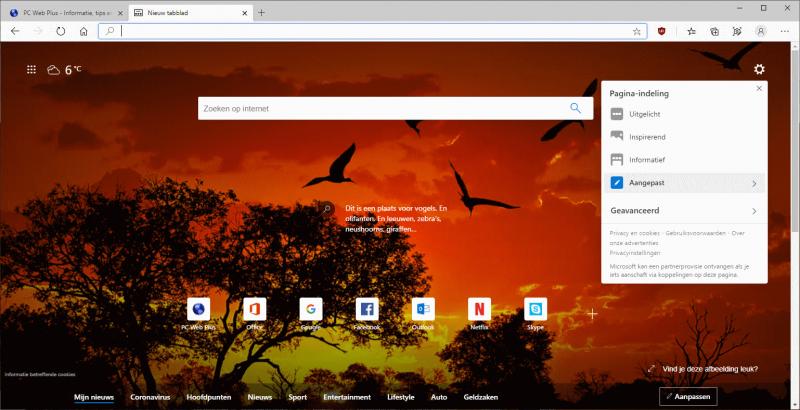 Werkbalk aanpassen in Microsoft Edge