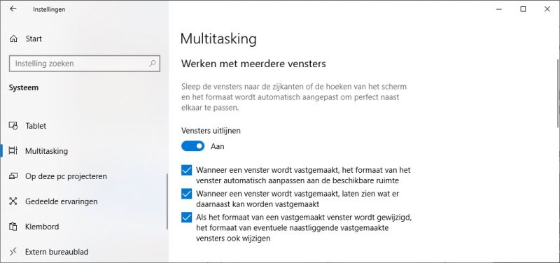 Werken met meerdere vensters in Windows 10
