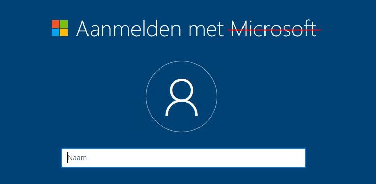 Windows 10 Home installeren met een lokaal account