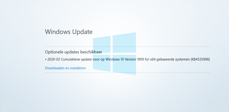 Windows 10 KB4535996 zorgt voor problemen