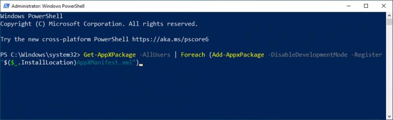 Windows Apps opnieuw installeren
