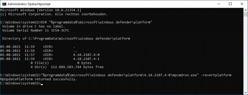 Windows Defender engine verwijderen