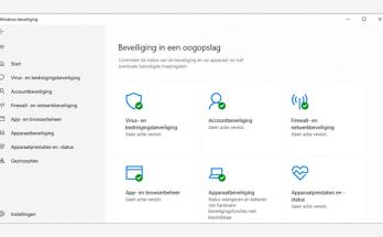 Windows Defender wordt Windows Beveiliging