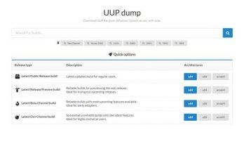Windows ISO downloaden via UUP Dump