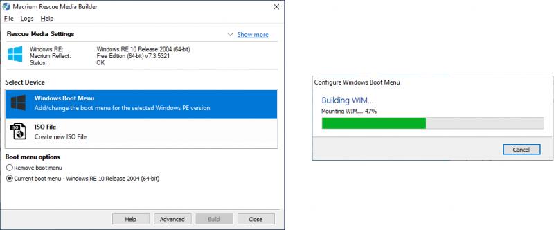 Windows PE Boot Menu installeren