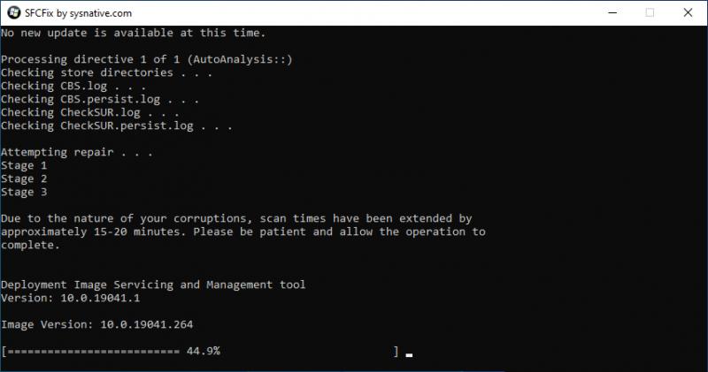 Windows Update herstellen met SFCFix