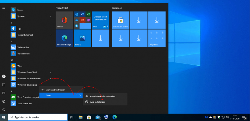 Windows beveiliging resetten en opnieuw instellen via App-instellingen